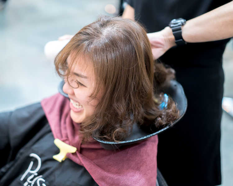 Application of Neutralizer After Perm at Picasso Hair Studio