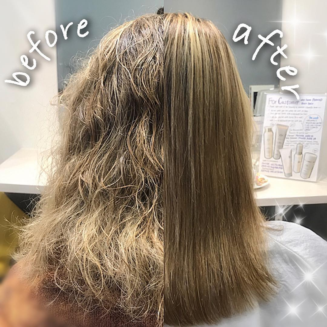 Keratin Treatment For Frizzy Hair Before and After at COVO Japanese Hair Salon
