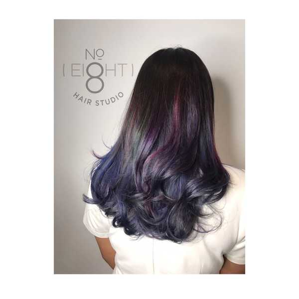 Multi-coloured highlights by No. 8 Studio