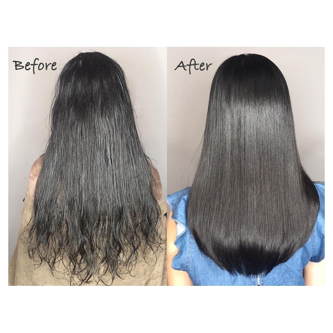 Before and After Rebonding by Bump Hair Design