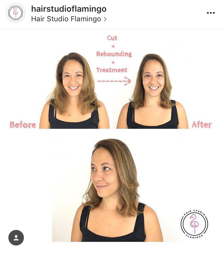 Before and After Rebonding Treatment by Flamingo Hair Studio