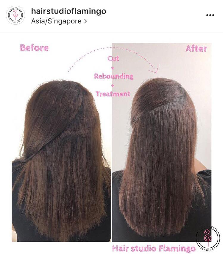 before and after rebonding for frizzy hair at flamingo