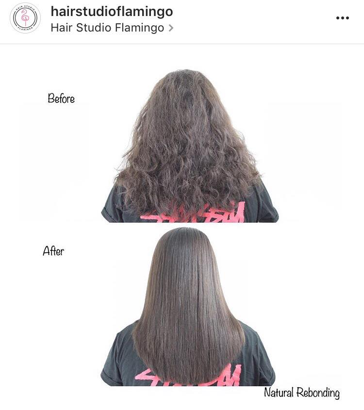 Before and After Rebonding at Flamingo