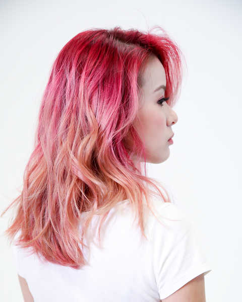 Pink Rose Gold Hair Colour