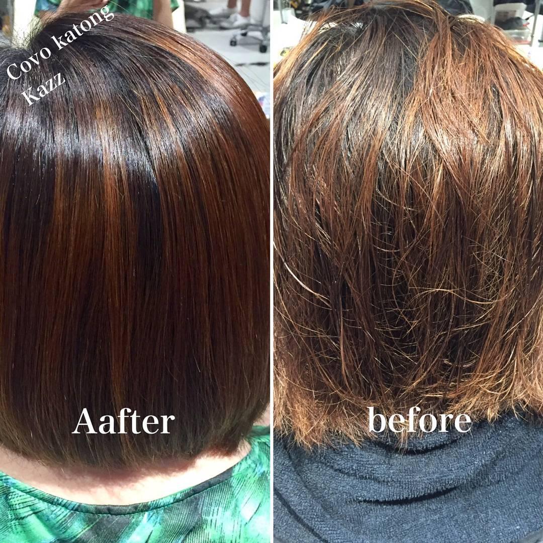 Best Keratin Treatment Before and After in Singapore at COVO
