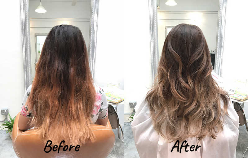 Brown Frapuccino Ombre by Flamingo Hair Studio