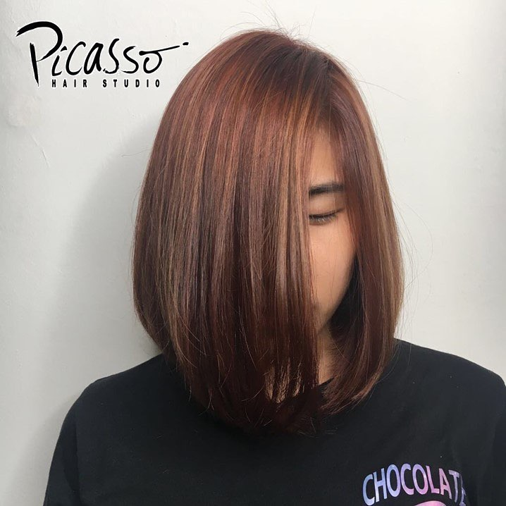 Short hair babylights by Picasso Hair Studio