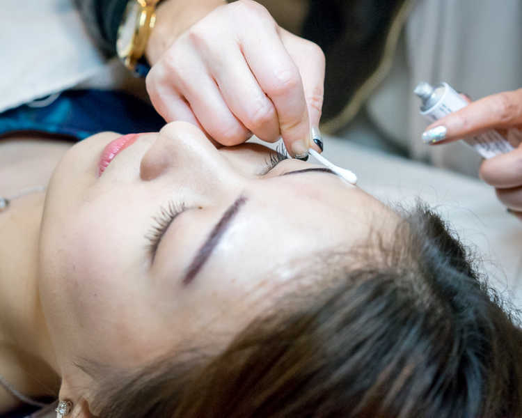 Getting Eyebrow Embroidery by Cecilia Chng at Follicle Salon