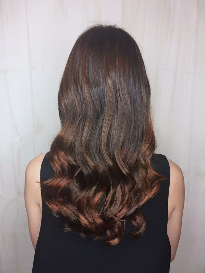 Reddish Brown Highlights by Style NA