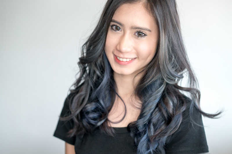 Blue Ombre by No. 8 Hair Studio