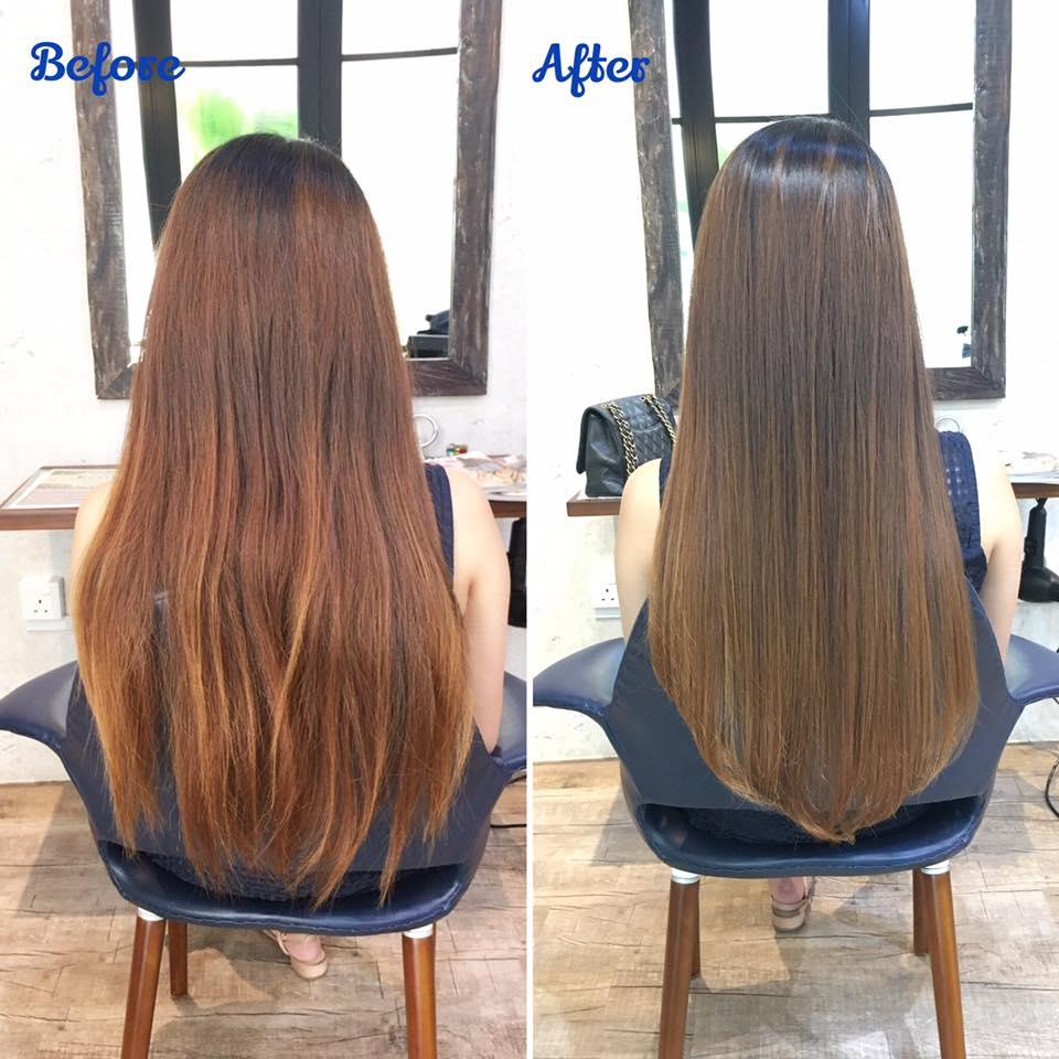 Before and After Rebonding at Rubik Salon