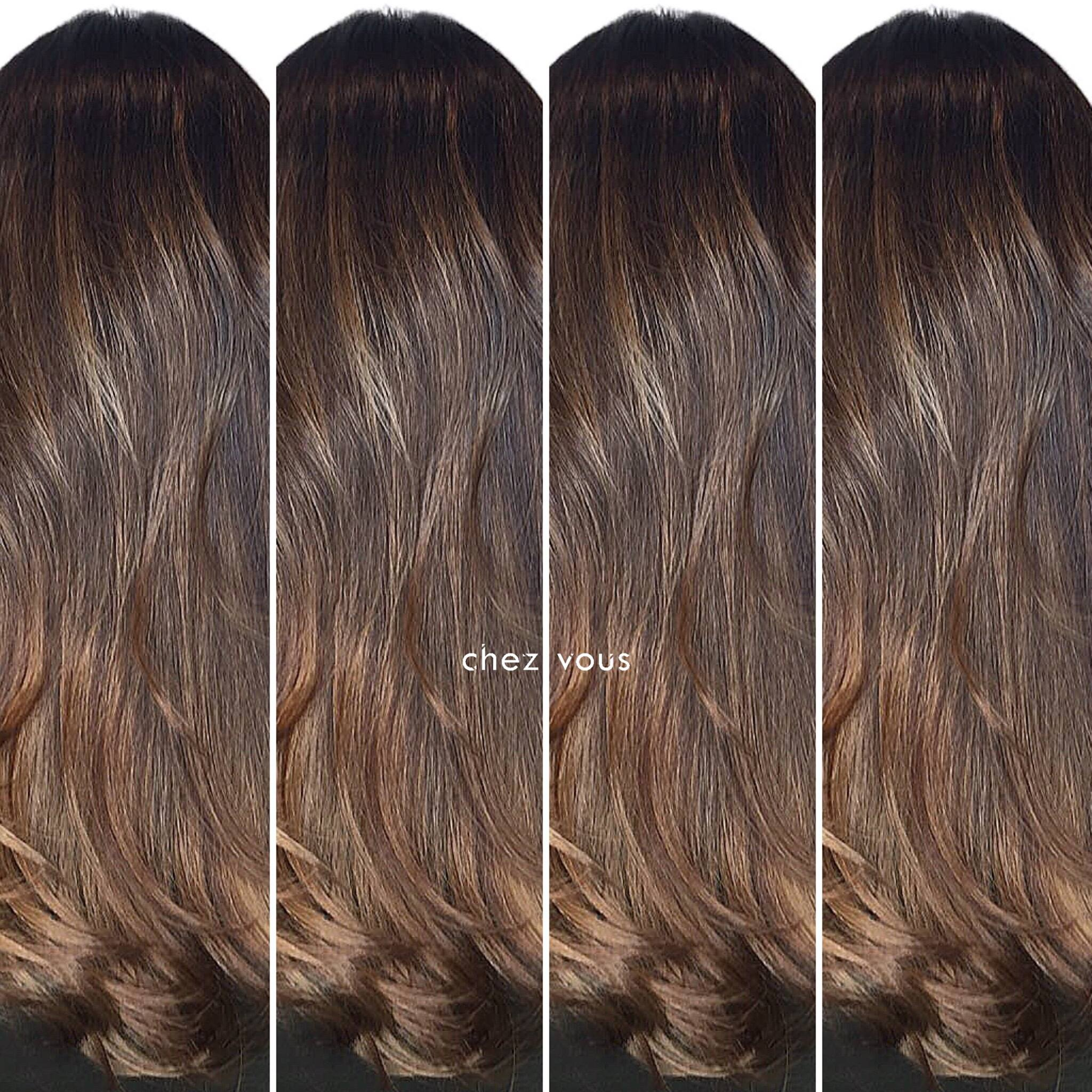 Caramel Brown Hair Colour for Work by Chez Vous