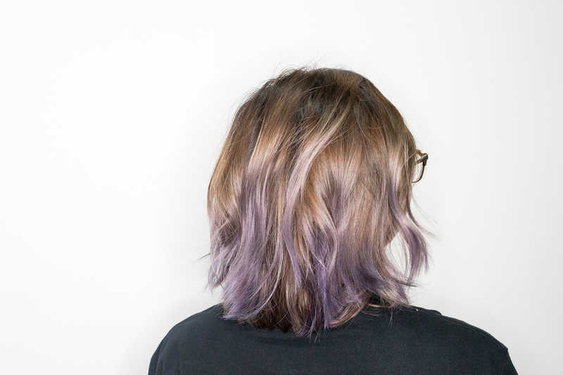 How I Look After Getting Ash Purple Balayage at 99 Percent Hair Studio