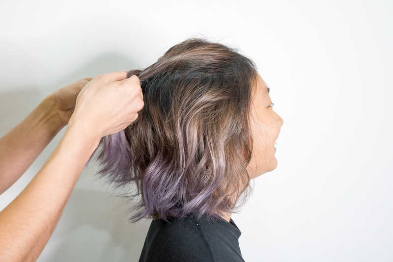 Ash Purple Balayage for Short Hair by 99 Percent