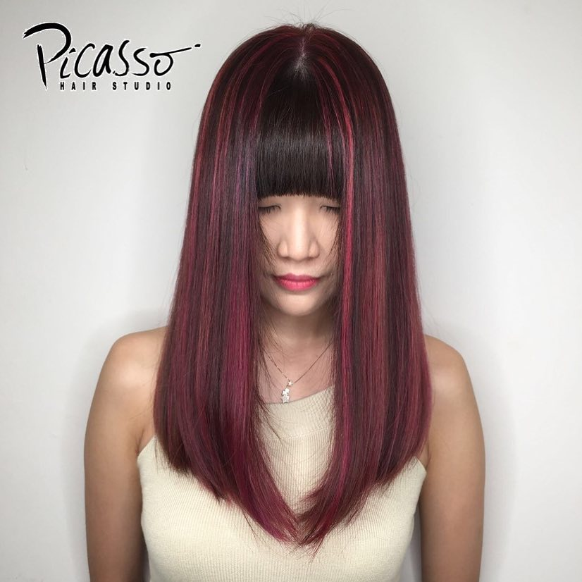 Burgundy Highlights at Picasso