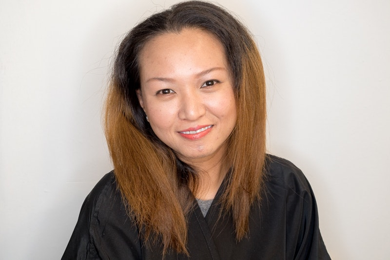 Frizzy and Dry Hair Before Korean Clinic Perm at The Urban Aesthetics
