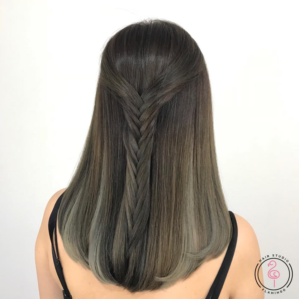 Ash Green Hair Colour for Water Ba Zi Element