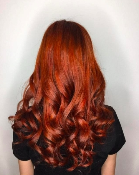 Red Hair Colour for Metal Ba Zi Element