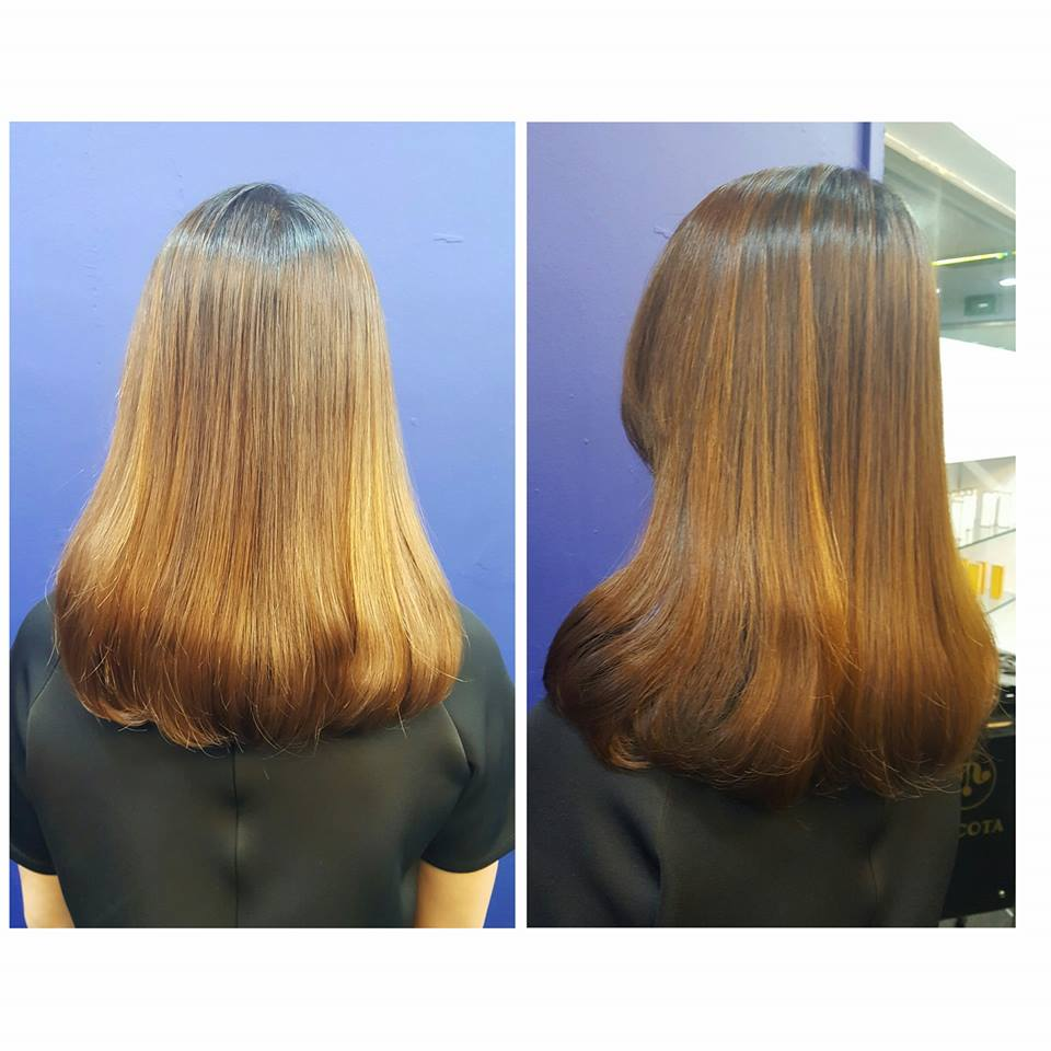 Before and After Rebonding at Focus Hairdressing