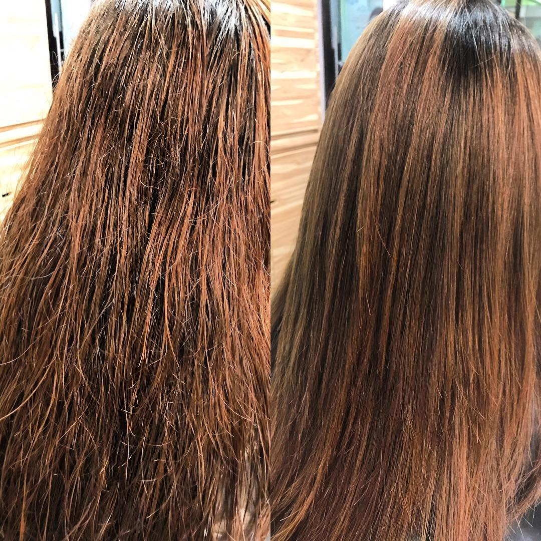 Before and After Keratin Treatment at Ann's Studio