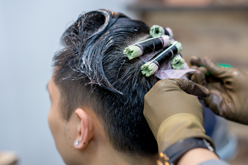 Getting a Men's Perm at Act Point Salon