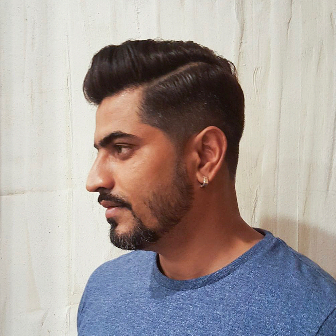 Men's Fade Haircut with Side Part by Style NA