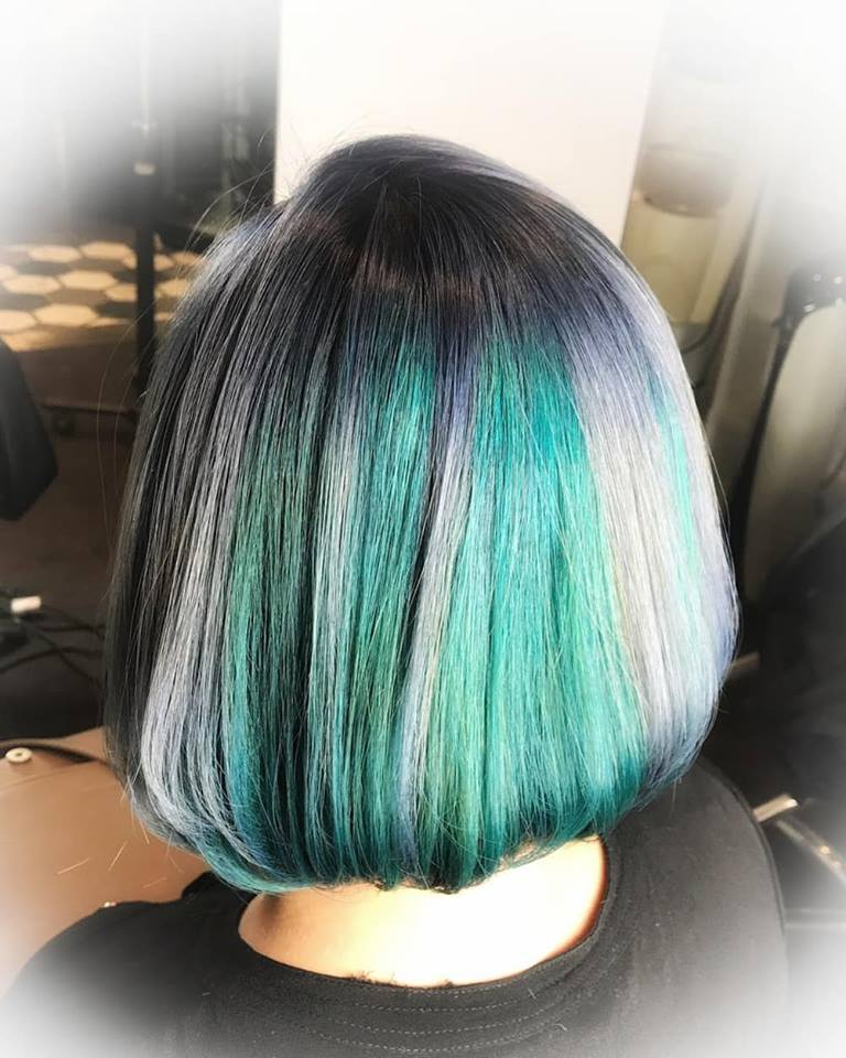 Ravenclaw Themed Silver Green Hair Colour by Full House