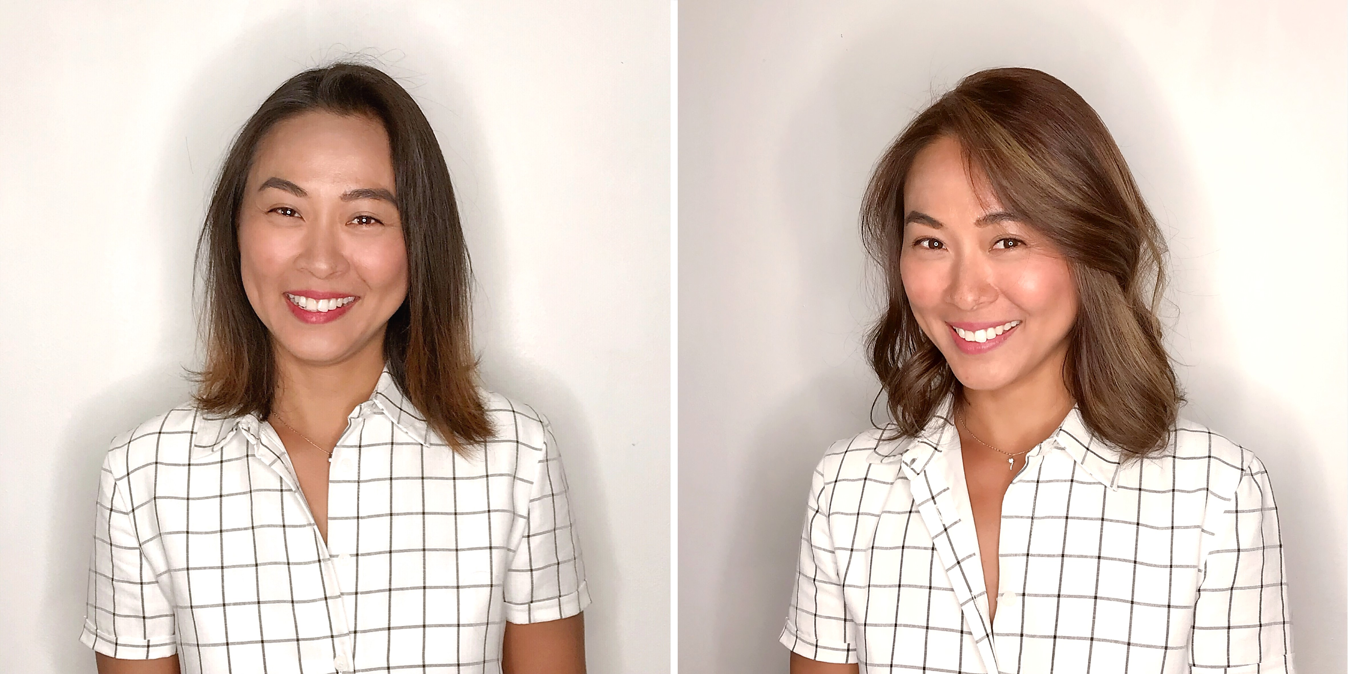Before and After Bronde Balayage at Chez Vous