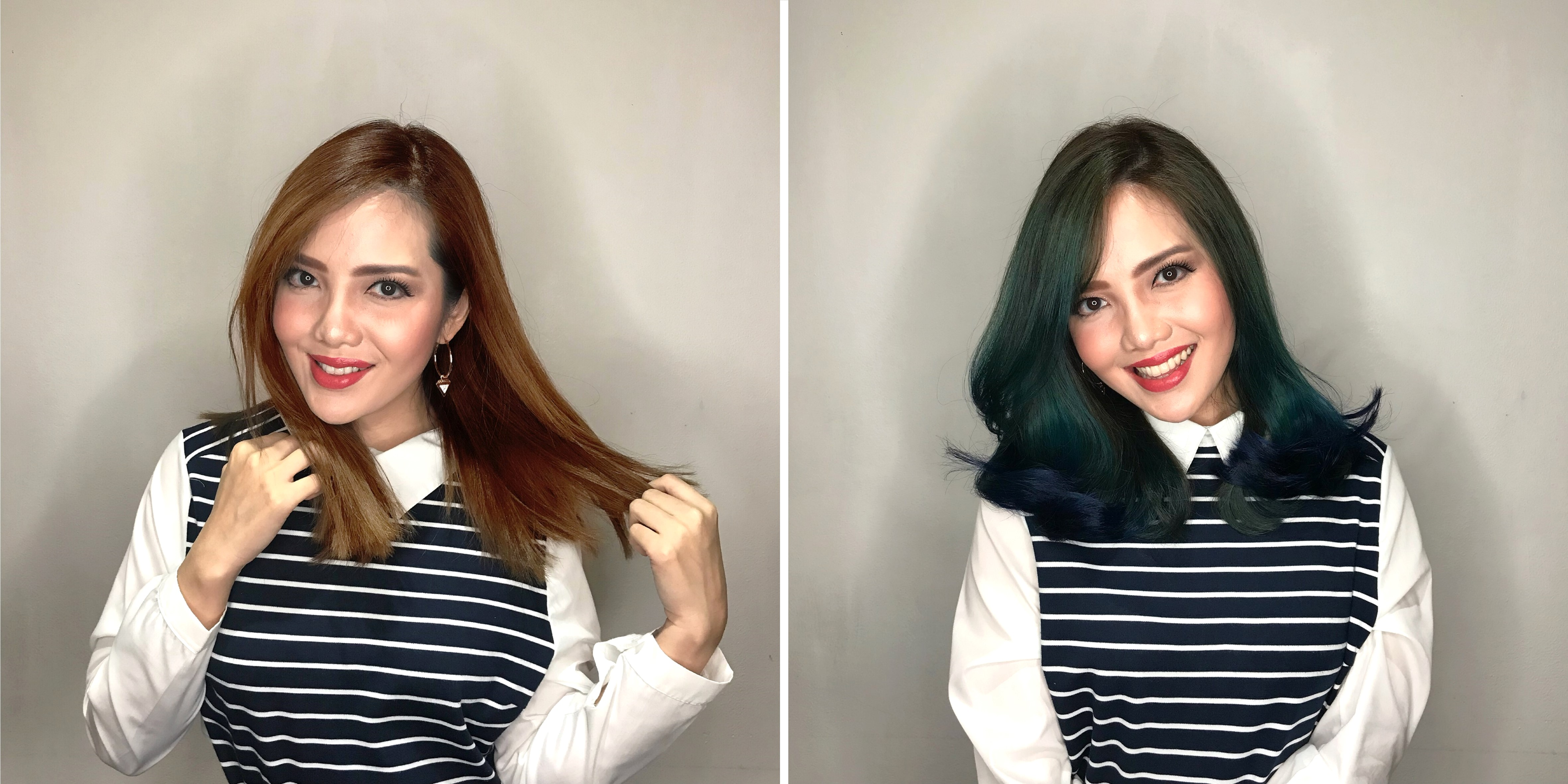Changing Ash Colour to Melted Gemstone Hair Colour at Chez Vous