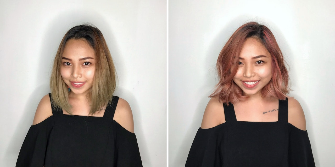Changing Ash Hair Colour to Rose Gold For Dull and Uneven Complexion