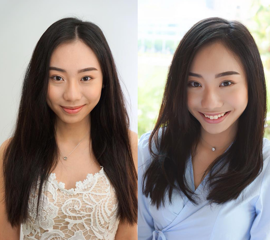 Before and After Hair Treatment at Michaela Japanese Hair Salon