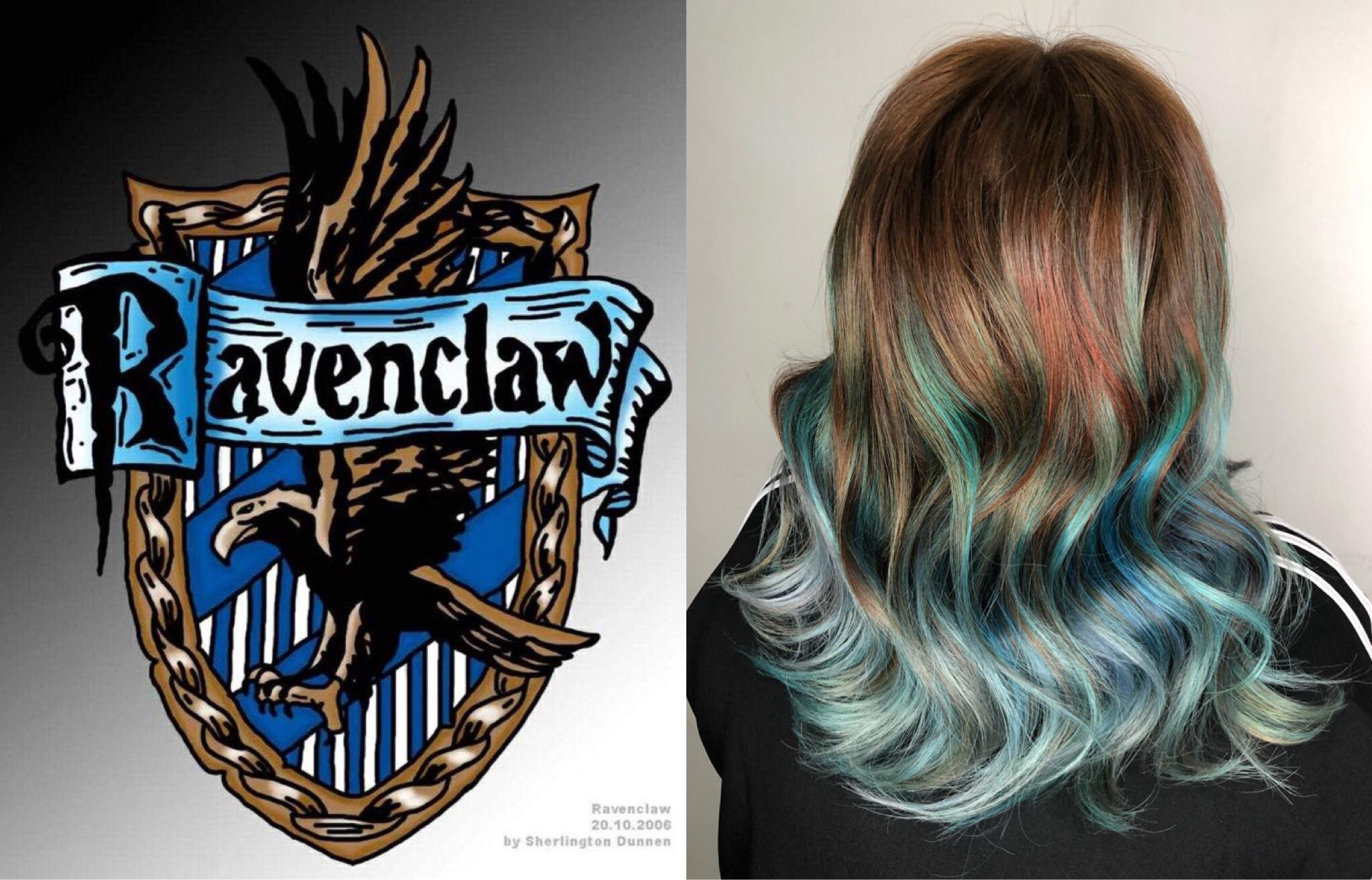 Ravenclaw Themed Turquoise Blue Ombre