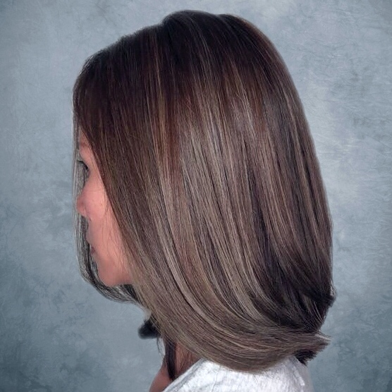 Short hair babylights by Chez Vous Hair Salon