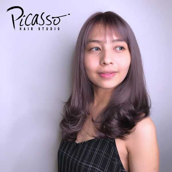 Lavender Brown Hair Colour by picasso