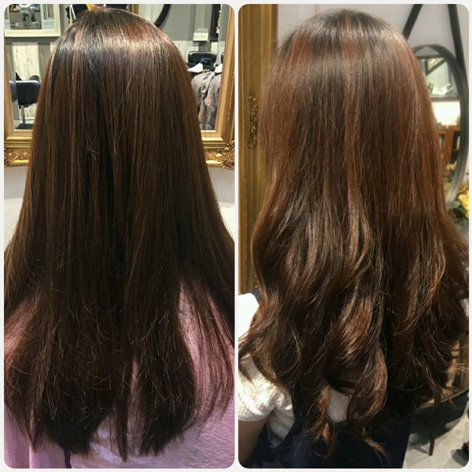 Before and After S Curl Perm at Koinonia Salon