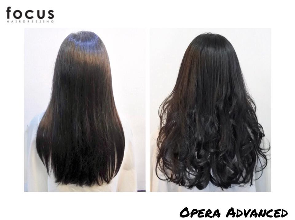 Before and After Opera Advanced Perm at Focus Hairdressing