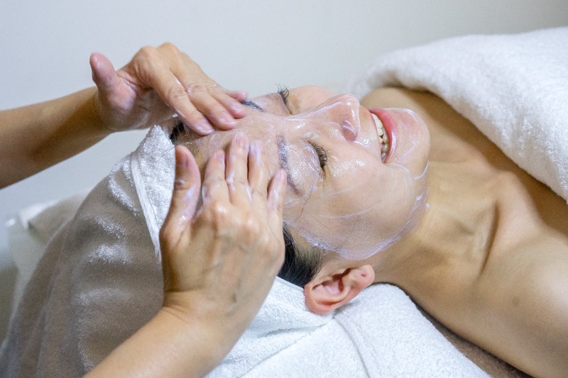 Getting Facial on Valentines Day at Geranium Skin