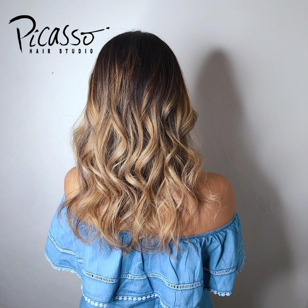 Brown Ombre Frapuccino Hair