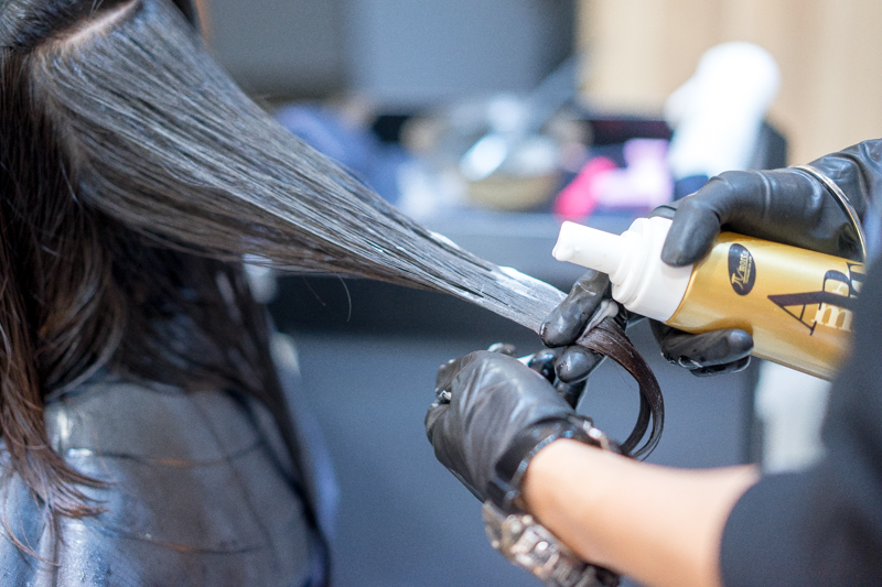 Application of Paimore Grats Perm Lotion at Picasso Hair Studio