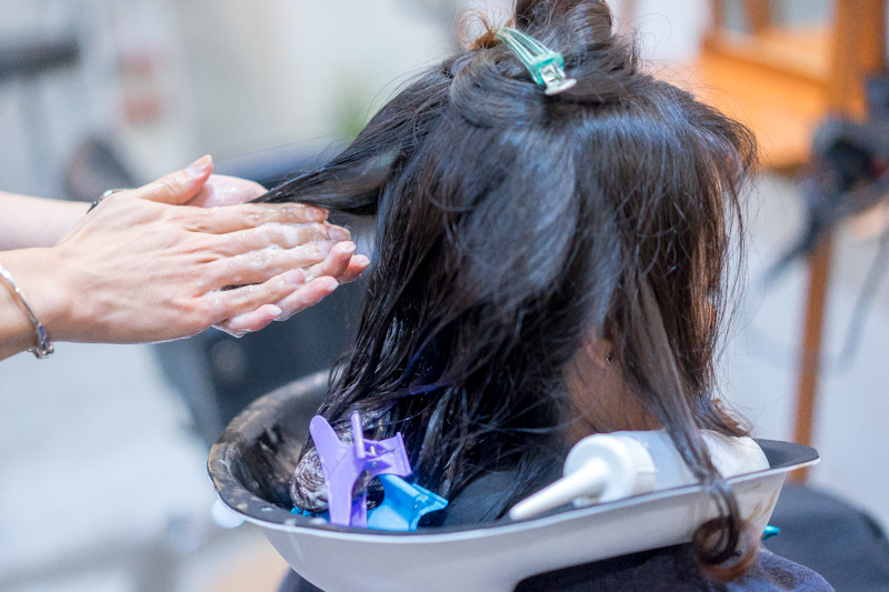 Application of Neutralizer at Picasso Hair Studio