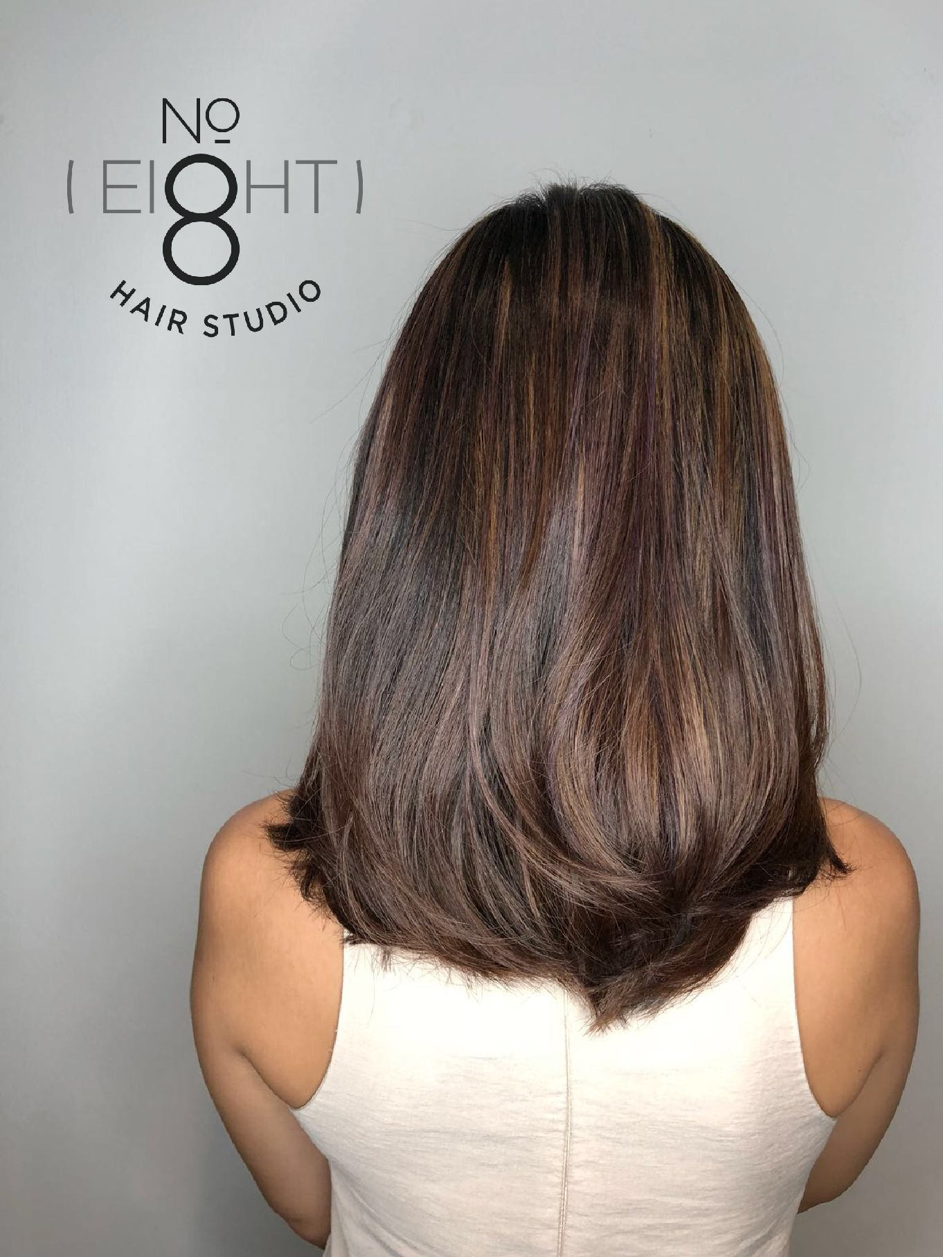 Brown Highlights by No. 8 Hair Studio