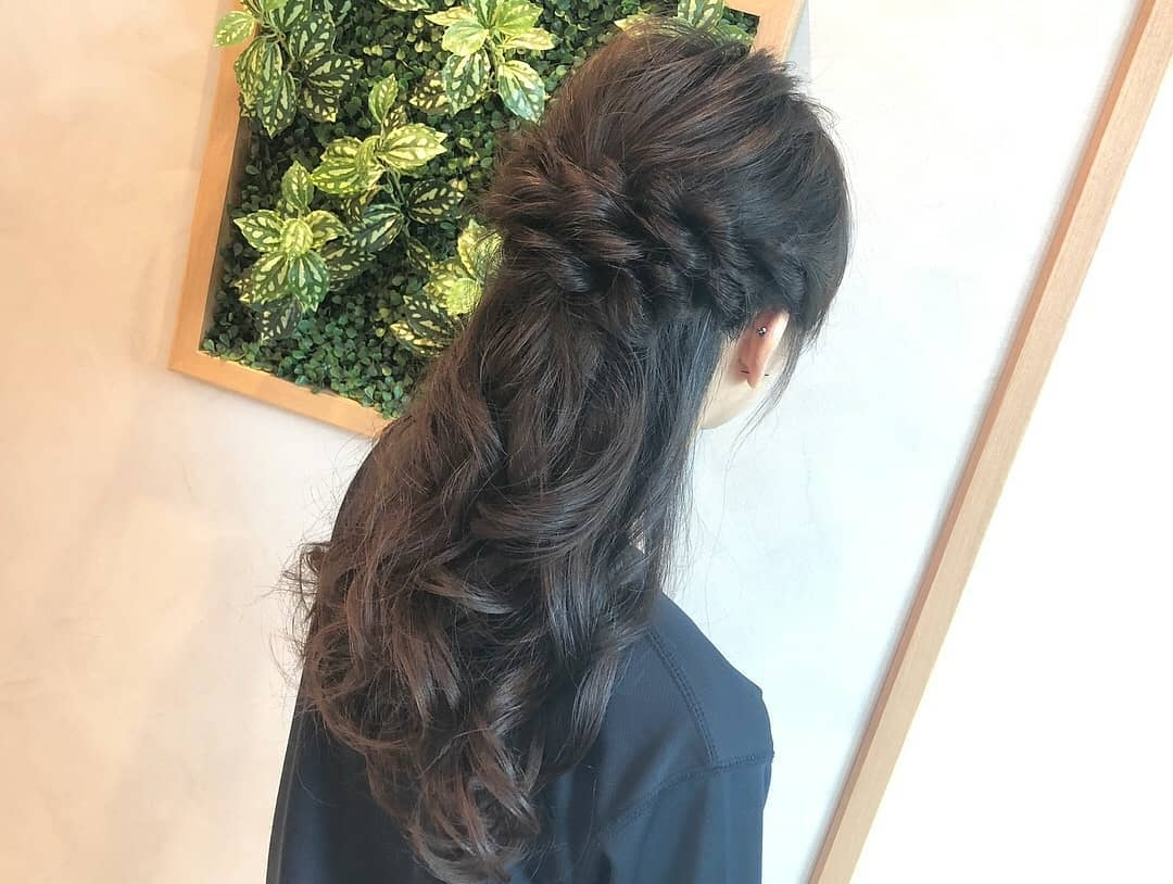 Braided Hair Styling for Events, Bridesmaid and Wedding at AUBE Japanese Hair Salon
