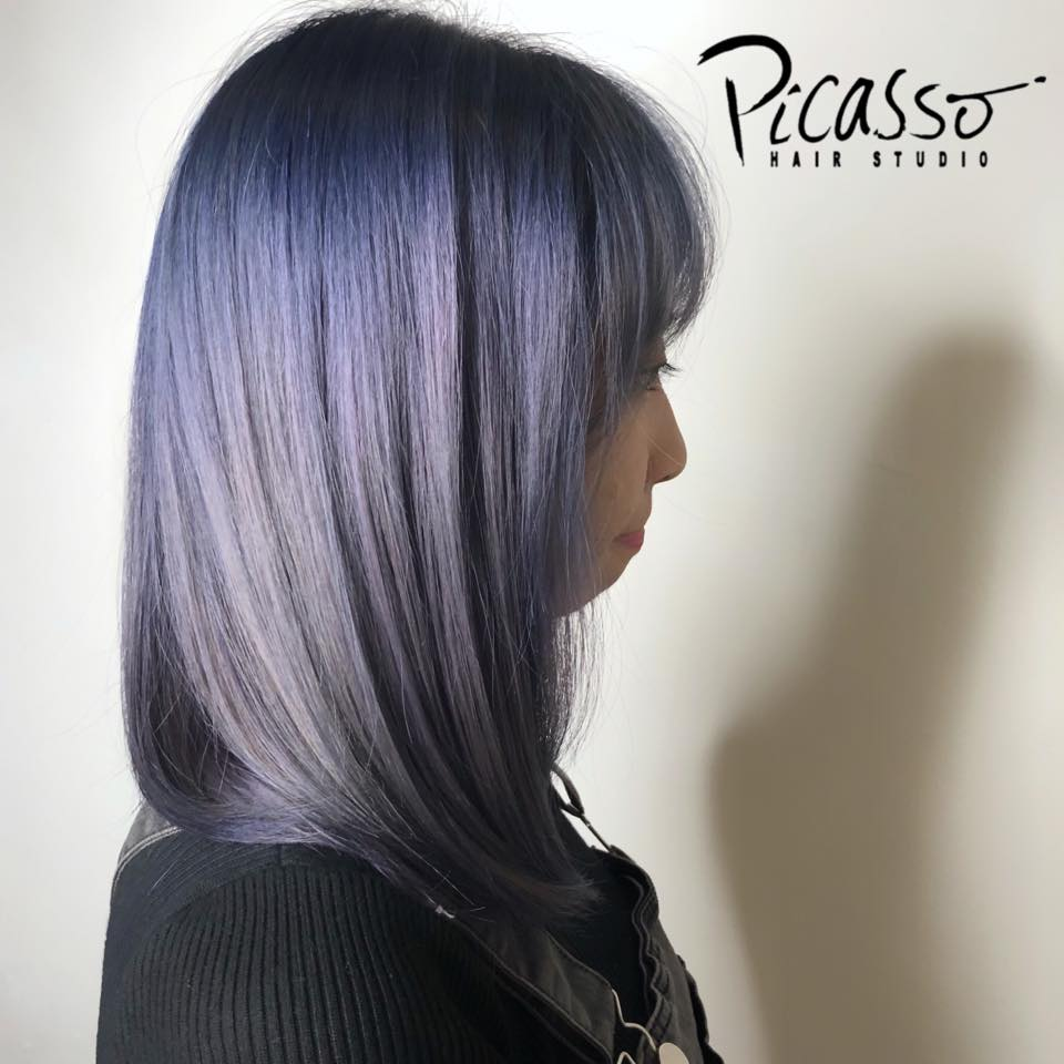 Silver Lavender Hair Colour by Picasso