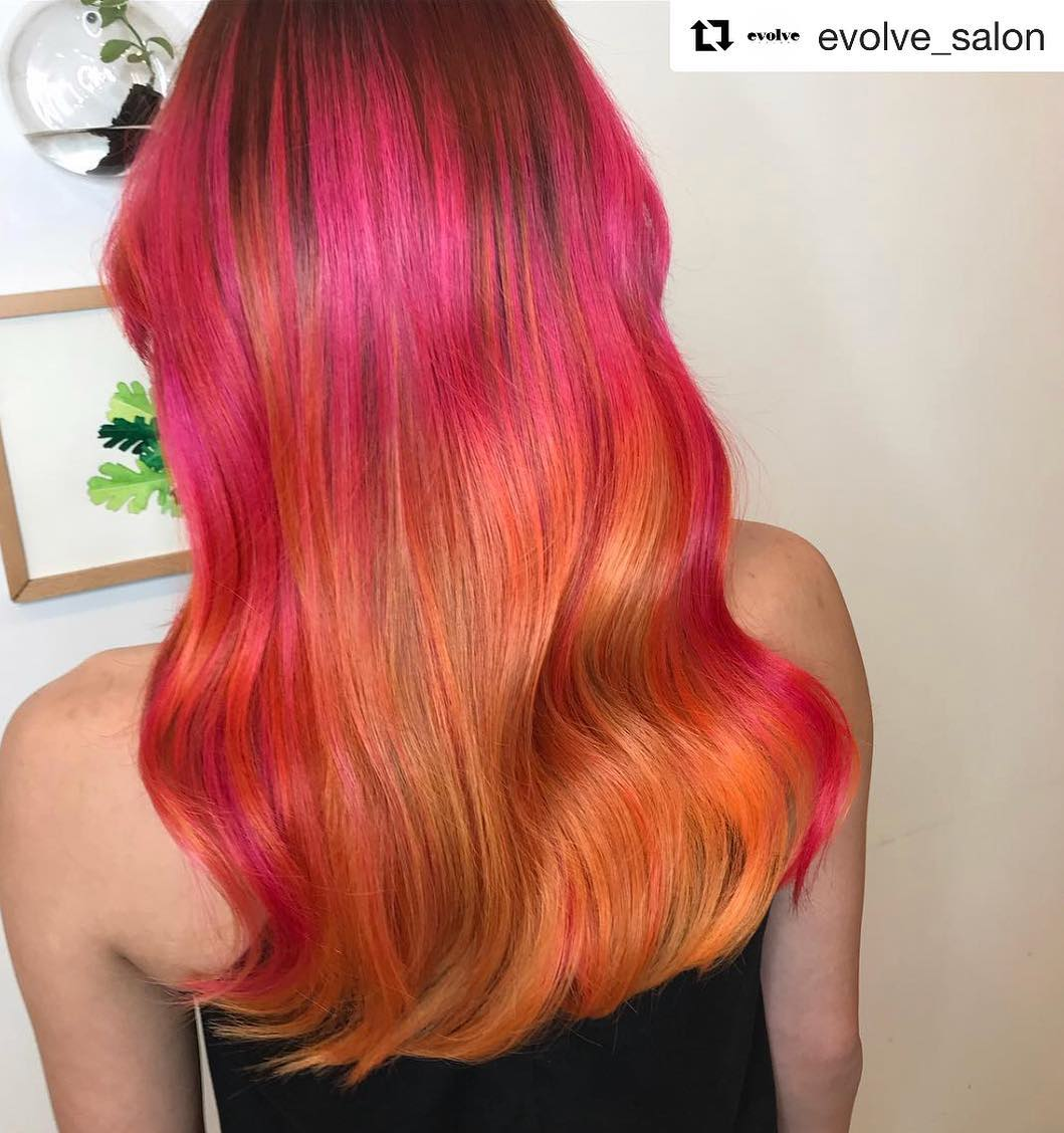 Red and Gold Hair Colour
