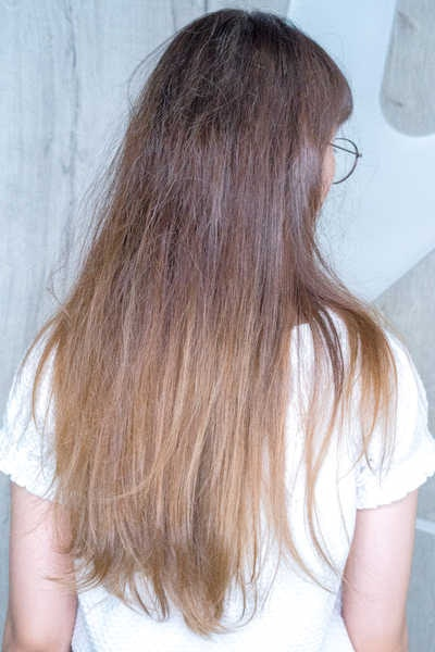 Frizzy Hair Before NOV Treatment at COVO