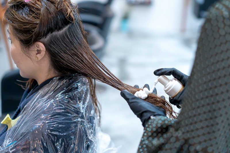 Application of Pre-Treatment at Picasso Hair Studio