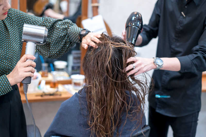 Curling Process at Picasso Hair Studio