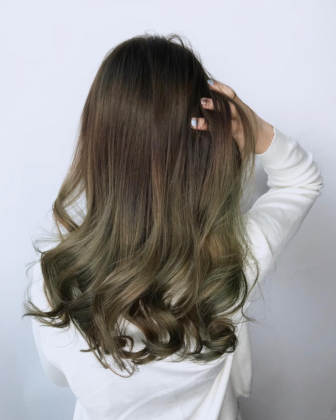 Green Brown Hair Colour by Walking on Sunshine