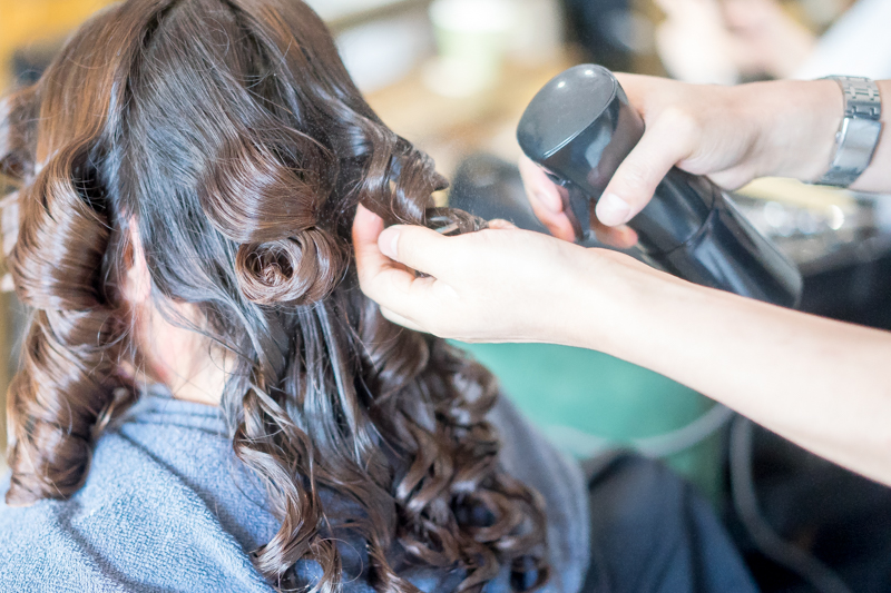 Application of Neutralizer at No. 8 Hair Studio