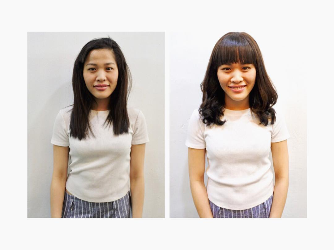 Before and After Perm by Marcus From Focus Hairdressing